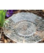 Clear Luncheon Plates w Flowers Depression Glas... - $22.00