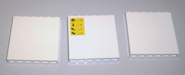 3 Used Lego  1 x 6 x 5 White Panels 59349 - $2.95