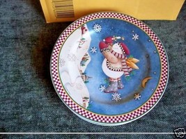 Sakura Debbie Mumm Snow Angel Village Salad Plates Set of 4 - $11.82