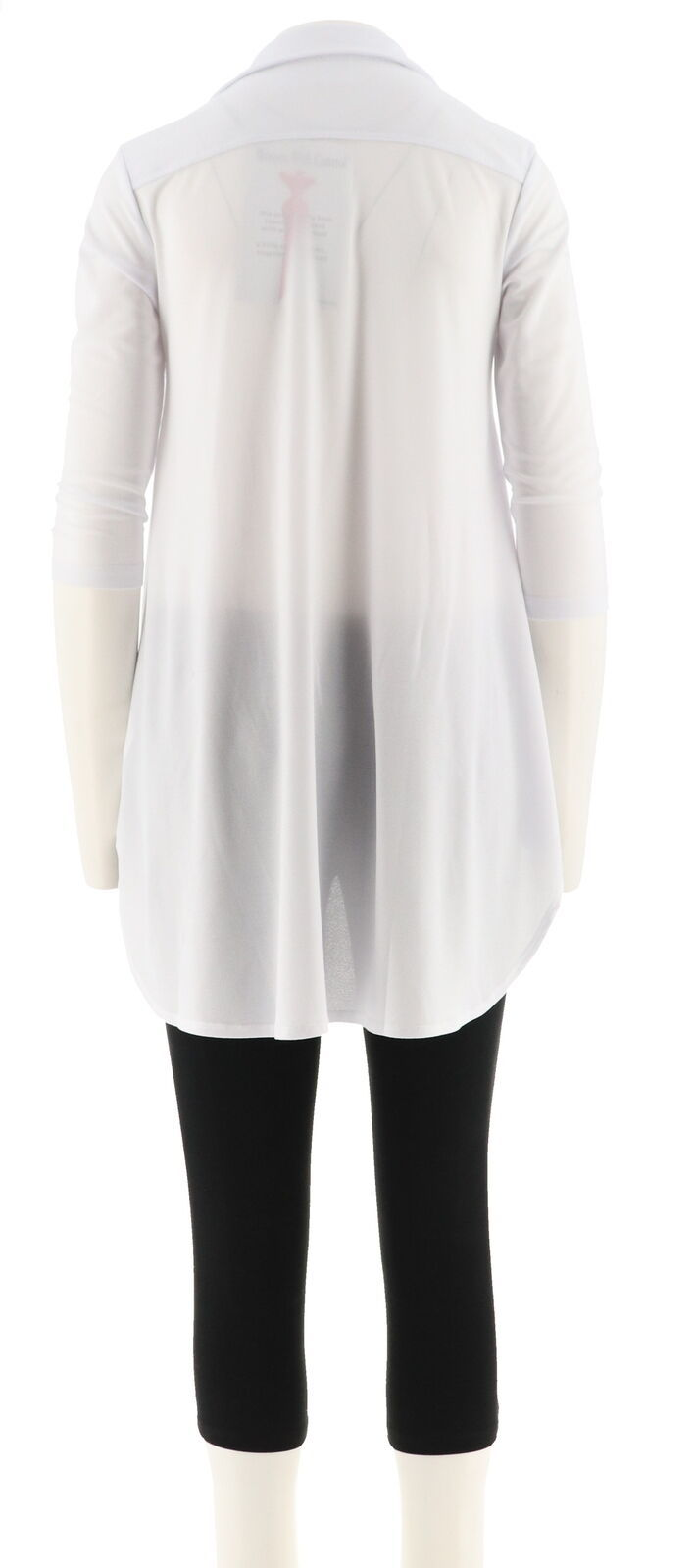 Women with Control Crepe Jersey Tunic Crop Pants Set White P1X NEW A290084