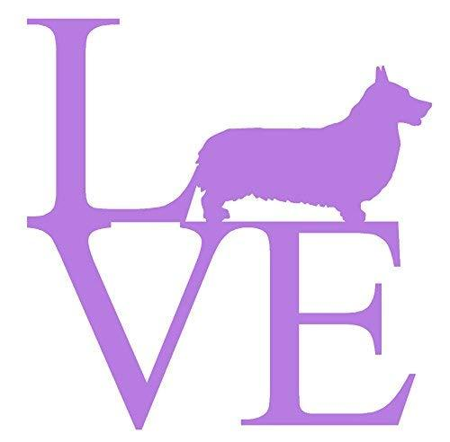 "Primary image for PEMBROOK CORGI LOVE V1 Vinyl Decal - size: 5"", color: LAVENDER - Windows, Walls,"