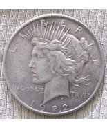 1922 P 90% Silver Peace Dollar XF+ condition. Free shipping - $36.00