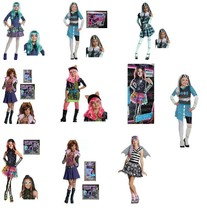 Girls Monster High Frankie Rochelle Twyla Howleen Clawdeen Skelita Wig Costume-S - £3.04 GBP+