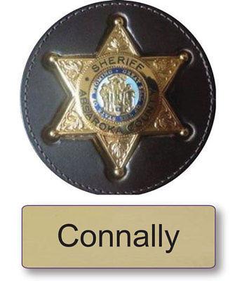 "CONNALLY LONGMIRE NAME BADGE & SHERIFF 3"" BUTTON HALLOWEEN COSTUME MAGNET BACK"