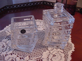 Rosenthal Studio-Linie Crystal Twisted, Stepped Jars, 2, One Covered - $70.00