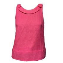 J.Crew Womens Pink Silk Seersucker Sleeveless Half-Collar Tank Top Blous... - $16.83