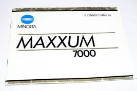 ORIGINAL MINOLTA MAXXUM 7000 35MM FILM CAMERA OPERATING MANUAL INSTRUCTI... - $14.99
