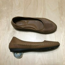 Womens Born Flats Brown Leather Shoes Size 7M - $25.63