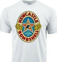 Newcastle Bombshell Dri Fit graphic Tshirt moisture wicking beer beach SPF tee image 1
