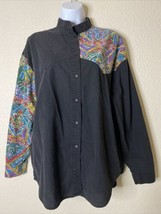 Vtg Side Saddle Womens Size L Button Up Western Shirt Long Sleeve - $17.31