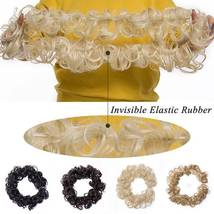 100% Real LARGE Thick Messy Bun Hairpiece NaturalHair Extension Curly image 8