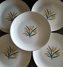 "Set Of Five (5), Vintage, Royal Harvest, Wheat Plates, 9"" Diameter - $45.00"