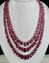 A+ NATURAL PINK TOURMALINE RUBELLITE BEADS TEAR DROPS 3 LINE 435 CARATS ... - $5,605.00