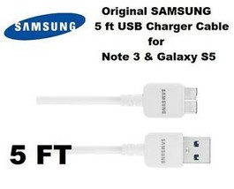 NEW Authentic 5 feet Samsung Galaxy Note3 S5 USB 3.0 Charging Cord SYNC ... - $15.82