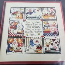 "Dimensions Crewel Needlework Kit Kitchen Tiles 14"" x 14"" Vintage 1984 Sealed - $19.80"