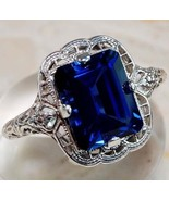 POWERFUL RING BLUE SHAPPIRE  BRING ME MONEY FAS... - $35.99