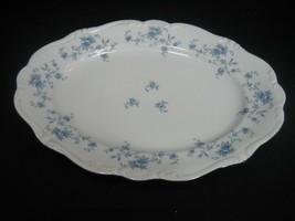Vintage Johann Haviland Blue Garland Oval Platter Bavaria Germany - $23.33
