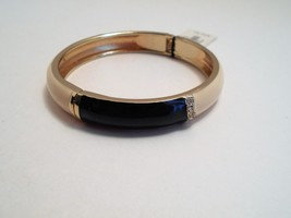 Talbots Navy & Ivory Enamel Rhinestone Bangle Bracelet New With Tags image 4