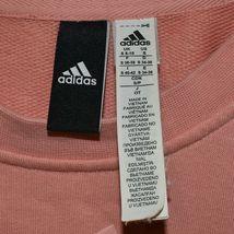 Adidas Athletics Women's Peach Pink Pullover Sweatshirt Size S A2B010 image 3