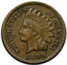 1908S Indian Head Cent Penny Coin Lot A 290