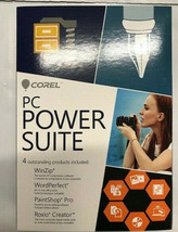 Corel PC Power Suite PC (Includes WinZip, Wordperfect,Paint shop Pro, Ro... - $69.29