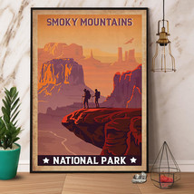 Hiking smoky mountains national park poster/ canvas - $21.99+