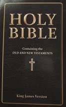The HOLY BIBLE King James Version Paperback Leather Look Old & New Testa... - $8.99