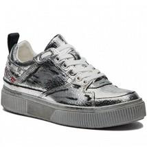 Diesel Women S-Danny LC II W Y01820 Sneakers Silver Size UK 6.5 - $140.88