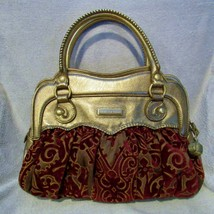 Holiday Metallic & Ruby Isabella Fiore Heirloom Simone Bag Satchel Handb... - $74.24