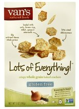 Van's Natural Foods Crispy Whole Grain Baked Crackers Gluten Free Lots o... - $17.81