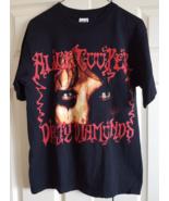 T-Shirt 2005 Alice Cooper Dirty Diamonds Concert Adult M Black Heavy Roc... - $24.99