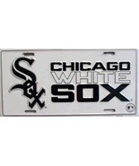 MLB Chicago White Sox White Aluminum Metal License Plate Auto Tag Sign - $5.56
