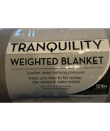 Tranquility Weighted Throw Blanket, Twin - Gray, NEW - $28.99