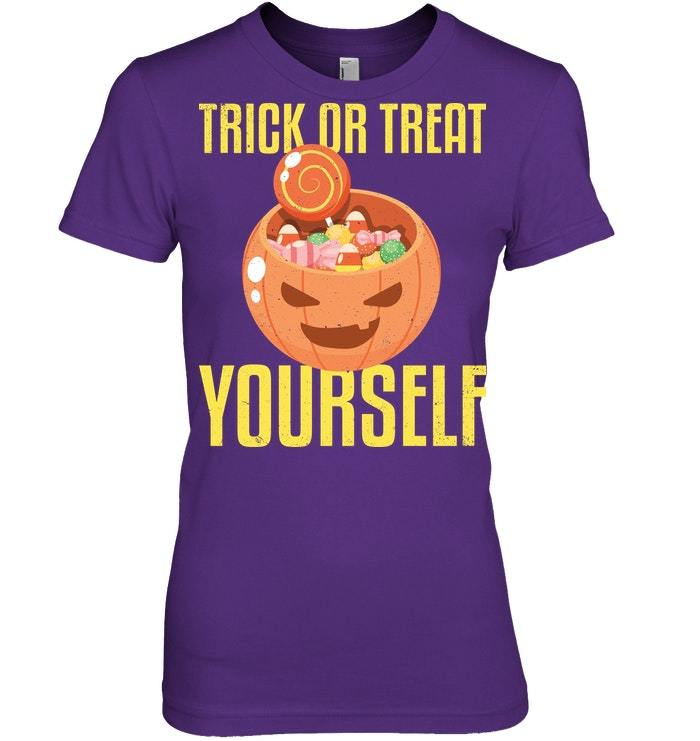 Funny Halloween Tshirt Trick Or Treat Yourself