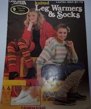 Leisure Arts Knitted Leg Warmers & Socks Leaflet 224 1982 - $6.99