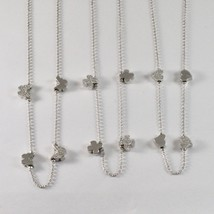 925 STERLING SILVER NECKLACE JACK&CO WITH FOUR-LEAF CLOVER HEART 0,5 BUTTERFLY image 2