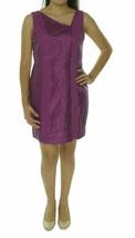 Jessica Simpson Dress Sz 2 Fuchsia Hollyhock Sleeveless Sequined Laced Party  - $48.35