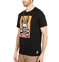 Men's Psycho Bunny Short Sleeve Rawson Graphic Tee Skull Logo Black T-Shirt image 2