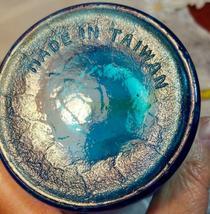 VINTAGE CRISS CROSS DIAMOND PATTERN KNIGHT AQUAMARINE BLUE BOTTLE MADE IN TAIWAN image 10