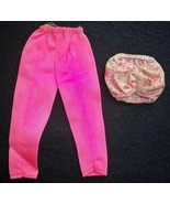 Vintage 1980s Barbie 2 Piece Pink Outfit Cropped Pants with Tube Top   - $12.82