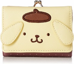 Sanrio Pompompurin Face Mini Wallet Purse 3-fold Japan Limited New with ... - $55.17