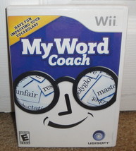 MY WORD COACH - 2007 Ubisoft Wii Video Game Complete - $1.11