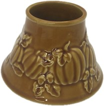 Yankee Candle  Jar Shade Stripes Pumpkins Autumn Fall Harvest Farm - $24.99