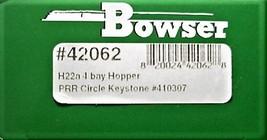 Bowser HO Scale 42062 PRR H22a 4 Bay Hopper car w/ PRR Shadow Keystone # 410307 image 3