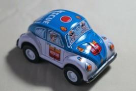 "New Vintage Tin Toy JAPAN Sanko Friction 3"" Volkswagen Beetle Rescue Pol... - $12.82"