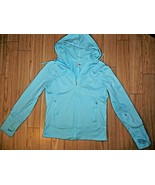 Alo CoolFit Long Zip Up Hoodie with Thumb Holes size Medium guc - $39.59