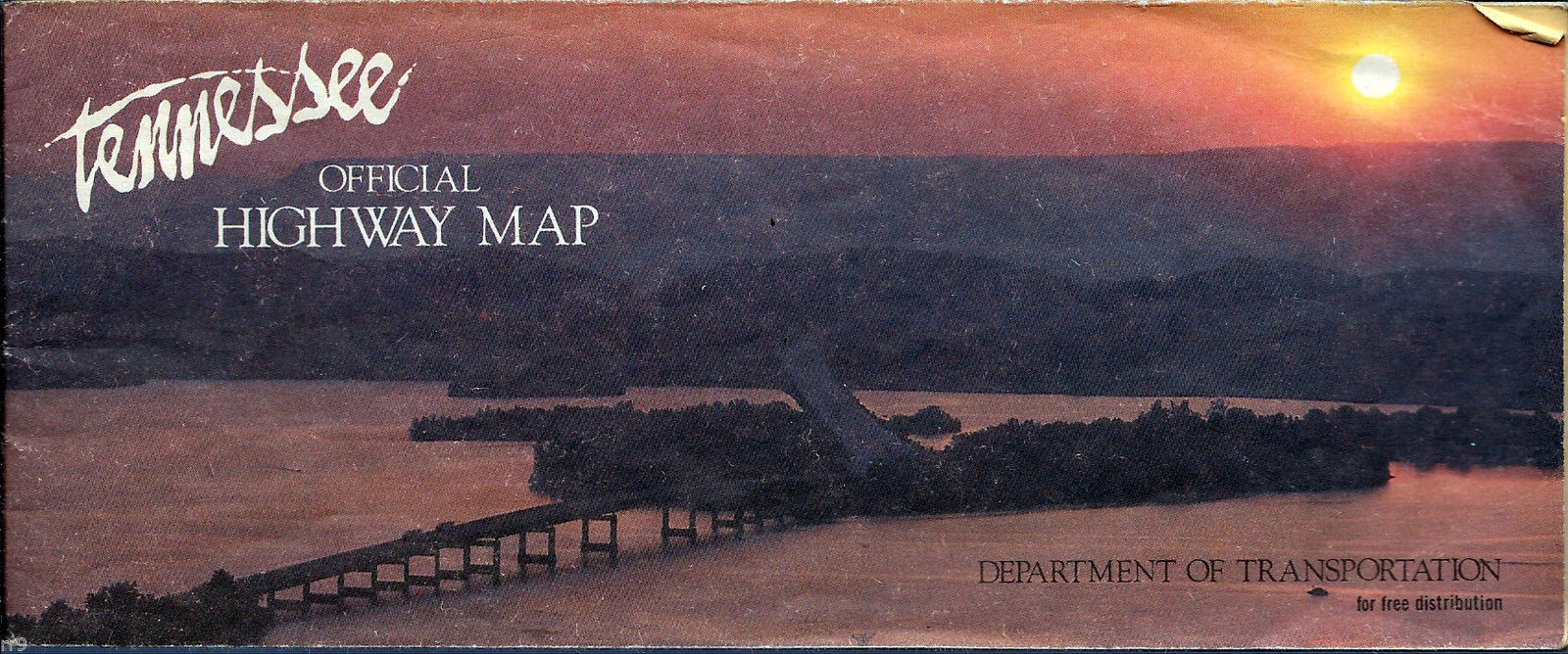 Primary image for Tennessee  1986 Official Highway Map