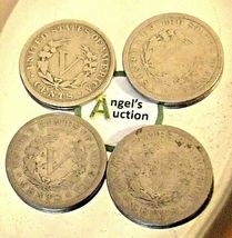 Liberty Head Nickel Five-Cent Pieces 1906 - 1909 AA20-CNN2137 Antique image 4