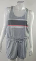 SO Juniors Size Medium Gray White Pink Black Sleeveless Sporty Romper NWOT - $14.01
