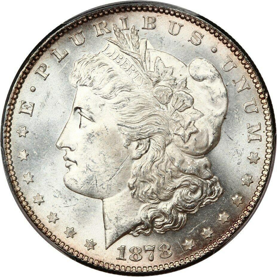 1878 7TF $1 PCGS MS63 (Reverse of 1878) Morgan Silver Dollar